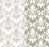 Seamless wallpaper i spegeleffekt Royaltyfri Fotografi