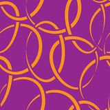 Seamless wallpaper with intertwined rings Stock Photos