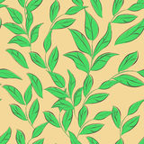 Seamless wallpaper with leaves Royalty Free Stock Image
