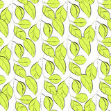 Seamless wallpaper with leaves Stock Photo