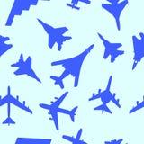 Seamless wallpaper military aircraft  Stock Photography