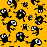 Seamless wallpaper of monsters Royalty Free Stock Images