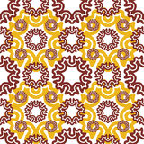 Seamless wallpaper. Motley retro repeating pattern. The yellow b Royalty Free Stock Photo