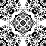 Seamless wallpaper with oriental symmetrical pattern Stock Photography