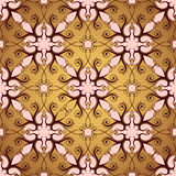 Seamless wallpaper ornament Stock Photography