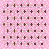Seamless wallpaper pattern. On checkered background Royalty Free Stock Image