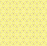 Seamless wallpaper pattern. On the yellow background Royalty Free Stock Photography