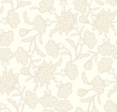 Seamless wallpaper pattern. In  vintage style with floral elements Royalty Free Stock Photography