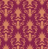 Seamless Wallpaper Pattern. You can use this repeating pattern to fill your own custom shapes and backgrounds Stock Photos