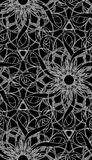 Seamless Wallpaper Pattern. You can use this repeating pattern to fill your own custom shapes and backgrounds Stock Image