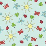 Seamless wallpaper pattern Stock Photo