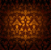 Seamless wallpaper pattern. Computer illustration Royalty Free Stock Photography