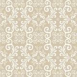 Seamless wallpaper pattern. Vector illustration of brown seamless wallpaper pattern Royalty Free Stock Photos