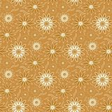 Seamless Wallpaper Pattern. You can use this repeating pattern to fill your own custom shapes and backgrounds Stock Images