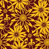Seamless Wallpaper Pattern. You can use this repeating pattern to fill your own custom shapes and backgrounds Stock Photography