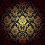 Seamless wallpaper pattern background. Vector. Illustration Royalty Free Stock Photos