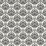 Seamless wallpaper pattern background. Vector. Illustration Stock Photography