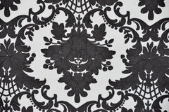 Seamless wallpaper pattern, black, isolated Royalty Free Stock Photos