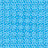 Seamless Wallpaper Pattern in Blue. Seamless Wallpaper Tile - This pattern repeats on all sides. You can use it to fill your own custom shapes and backgrounds Royalty Free Stock Photos