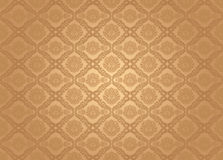 Seamless wallpaper pattern, brown Stock Photos