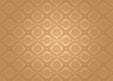 Seamless wallpaper pattern, brown Stock Photos