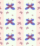 Seamless wallpaper pattern with butterflies Royalty Free Stock Images