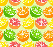 Seamless wallpaper pattern with citrus fruits Royalty Free Stock Photo