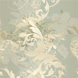 Seamless wallpaper pattern  in classic style Royalty Free Stock Photo