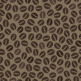 Seamless wallpaper pattern with coffee beans Royalty Free Stock Photo