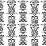 Seamless wallpaper pattern. Damask pattern with seamless sample in swatch panel Stock Photography