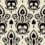 Seamless wallpaper pattern. Elegant Hand Drawn vector pattern Stock Photography
