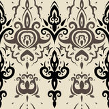 Seamless wallpaper pattern. Elegant Hand Drawn vector pattern Royalty Free Stock Photo