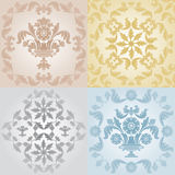 Seamless wallpaper pattern floral, gray Royalty Free Stock Images