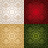 Seamless wallpaper pattern floral, red Royalty Free Stock Photography