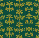 Seamless wallpaper pattern with flowers Royalty Free Stock Photo