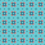 Seamless wallpaper pattern with flowers. Green seamless wallpaper pattern with flowers and leaves Royalty Free Illustration