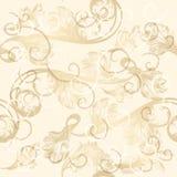 Seamless wallpaper pattern with hand drawn swirls Royalty Free Stock Photos
