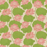 Seamless wallpaper pattern with lotus. Seamless wallpaper pattern. Floral background Royalty Free Stock Photos
