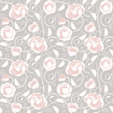 Seamless-wallpaper pattern with of ros Stock Image