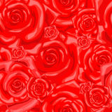 Seamless wallpaper pattern with rose Stock Images