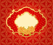 Seamless wallpaper pattern with roses Stock Images