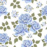 Seamless wallpaper pattern with roses Stock Image