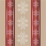 Seamless wallpaper pattern.1. Образец симметричный орнамент. illustration.Vintage Royalty Free Stock Image
