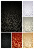 Seamless Wallpaper Pattern, set. Of six colors Royalty Free Stock Images