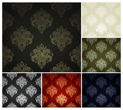 Seamless Wallpaper Pattern, set. Of six colors Royalty Free Stock Photography