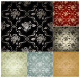 Seamless Wallpaper Pattern, set of six colors. Seamless Wallpaper Pattern set of six colors Stock Image