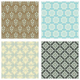 Seamless Wallpaper Pattern Set Royalty Free Stock Photography