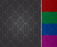 Seamless wallpaper pattern (vector) Royalty Free Stock Photography