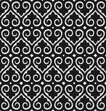 Seamless wallpaper pattern. Vector seamless wallpaper pattern black on white Royalty Free Stock Photo