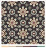 Seamless wallpaper patterns - floral series Stock Photo